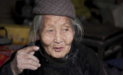 Childless elderly woman in Shandong