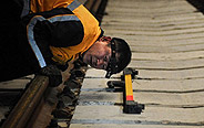 First alpine rail gets midnight maintenance