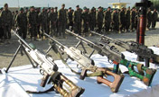 Afghan army displays illegal weapons