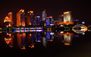 Night scenery of Nanning City