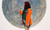 Unique fiber art catches visitors' eyes