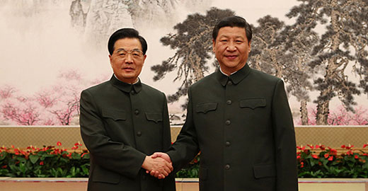 Hu, Xi urge army to fulfil historic missions under new leadership