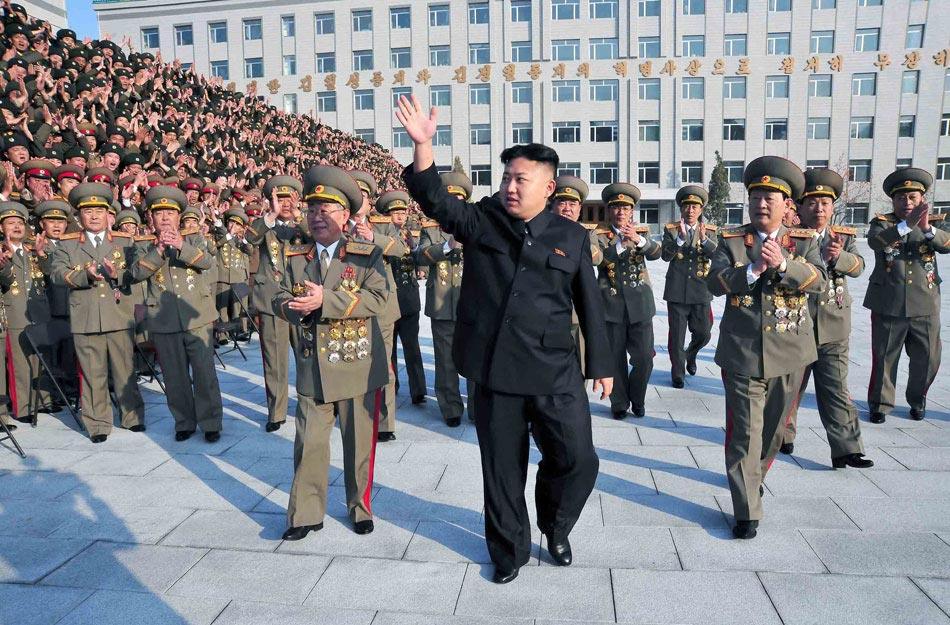 Kim Jong Un, top leader of the Democratic People's Republic of Korea (DPRK), visits the country's Ministry of State Security on Nov. 20, 2012, the official news agency KCNA reported on Nov. 21. Kim's visit on Tuesday coincided with the ministry's founding anniversary. (Photo/KCNA)