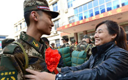 New military recruits leave for Tibet region