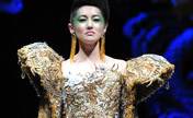 Gold armour hit Asian Fashion Week