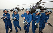 China's WZ-10 armed copters in training