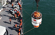 Naval troop unit conducts rescue docking drill