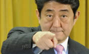 Japan's Abe attends press conference in Tokyo