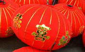 Villagers make Chinese lanterns in China's Zhejiang
