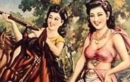 Charming girls pose on old Shanghai poster