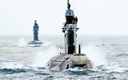 Submarines in confrontation drill