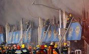 6 die in Shanghai market fire