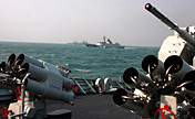 East Sea Fleet in offensive-and-defensive drill