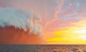 Odd: Spectacular red wave of dust storm in Australia