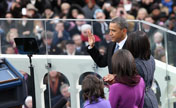 Obama takes oath for his 2nd term