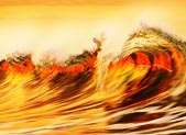Gorgeous long-exposure photos of golden wave