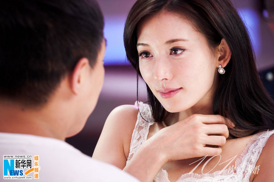 screen goddess lin chi ling kisses huang bo in the movie say yes