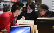 Apple retail stores hold sales activities in Beijing
