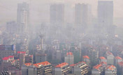 Fog shrouds Changsha, capital of China's Hunan