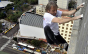 French Spiderman scales Havana Libre hotel