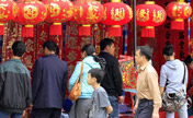 Chinese select goods to prepare for New Year