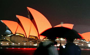 Sydney Opera House turns red for Spring Festival