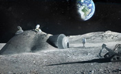 Architects design a base on the moon using 3D printing