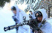 Frontier defense regiment in winter training