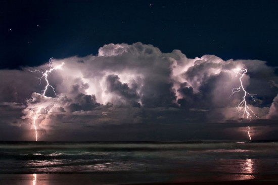 Breathtaking scenery of storm and thunder