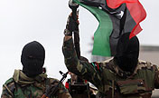 Libyan soldiers mark 2nd uprising anniversary