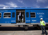 China-made rail coaches arrive in Argentina