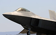 US F-22A Raptor performs in Airshow