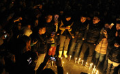 Changchun residents mourn for killed baby