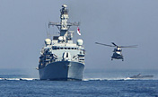 Warships in 'Peace-13' joint military exercise