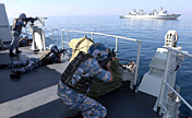 Naval escort taskforce in anti-hijack exercise