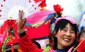 Temple fair held around China for 'Er Yue Er'