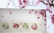 China Post publishes set of 'peach blossom' stamps