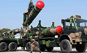 Missile brigade conducts emergency drilling
