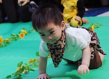 Babies participate in crawl competition in Hong Kong