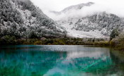 Snow-covered Jiuzhaigou Valley