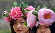 "Girls wearing ""peony hats"" seen at park"