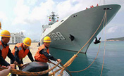 Ships of South China Sea Fleet return to home port