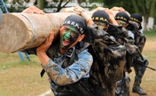 Chinese Marines in military skill training