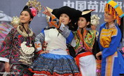 Costumes of Miao ethnic group displayed in Nanning