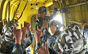 Airborne troops conduct parachute training