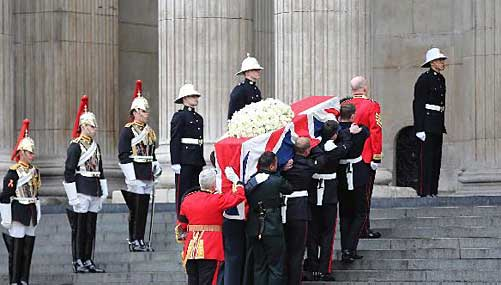 Funeral of Thatcher held at St. Paul's Cathedral in London