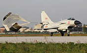 China's J-10 fighters in confrontation drill
