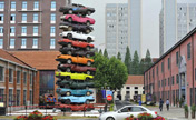 Art work made from discard vehicles