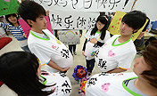 Male students experience life of pregnant women