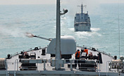 Chinese navy's landing ships in large-scale training